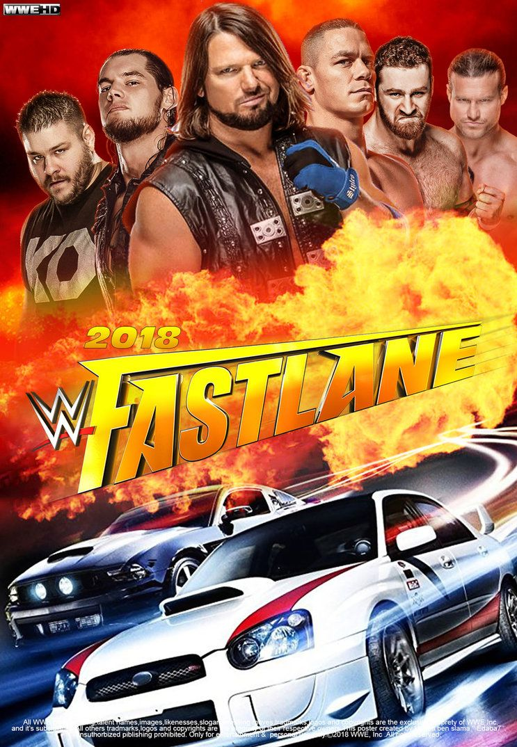 WWE FastLane 2018 Poster by edaba7.deviantart.com on @DeviantArt ...