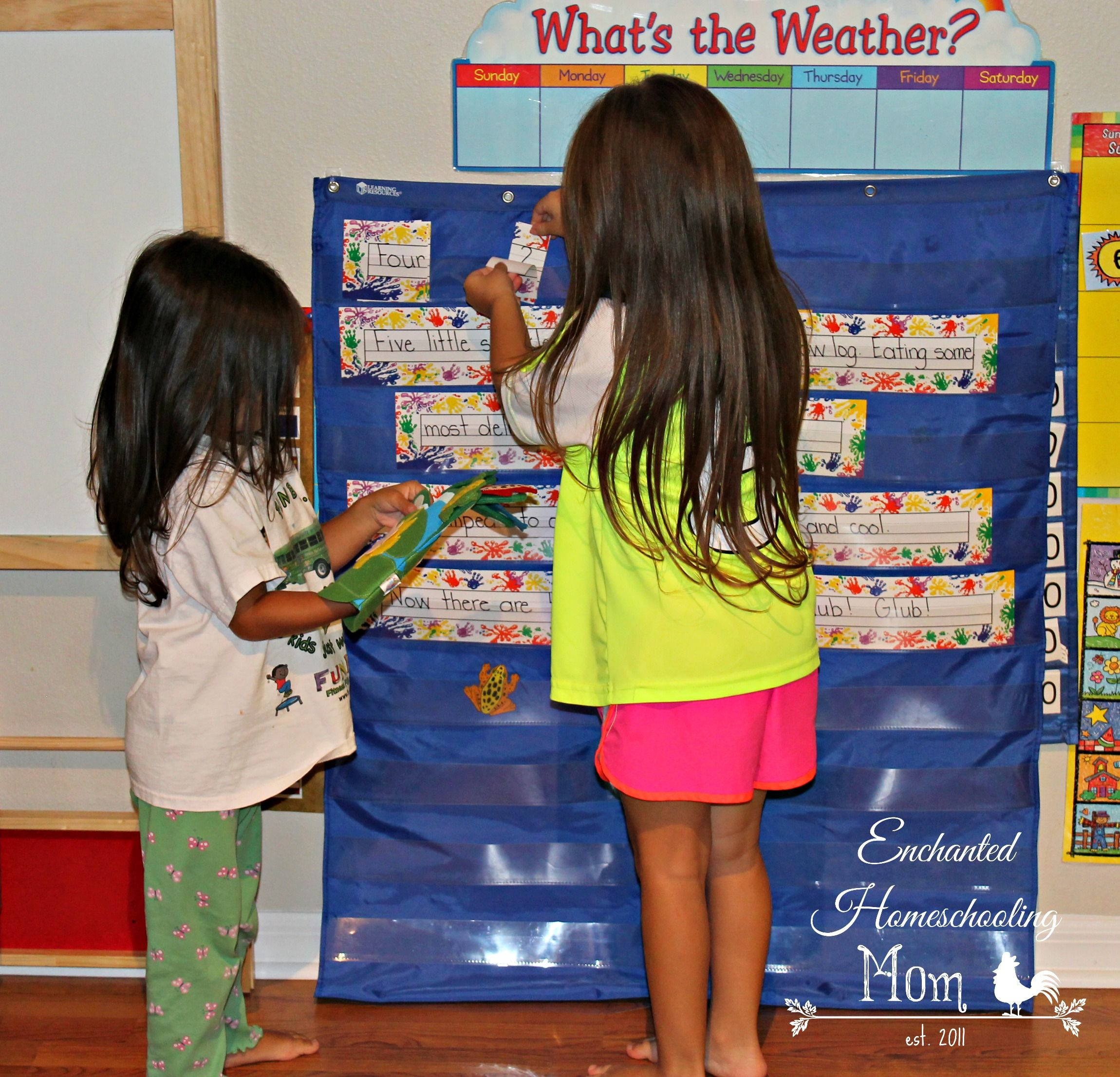 Pocket Charts & Music Finger Play - Enchanted Homeschooling Mom