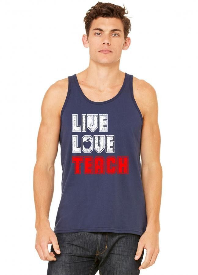 live love teach 7 tank top