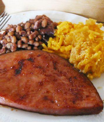 Maple Glazed Ham Steak Recipe Food Com Ham Steak Glaze Pork Recipes Recipes