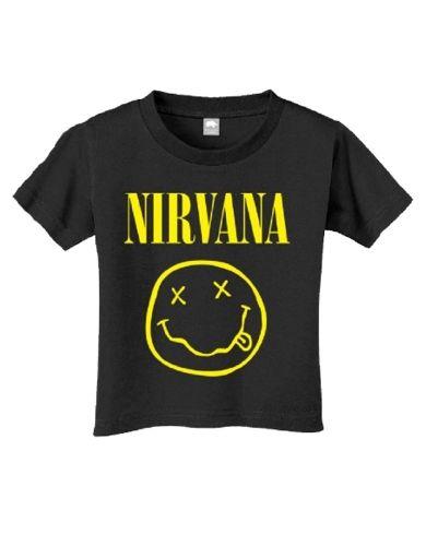9db968548cabb Nirvana Smile Toddler T-Shirt - This black toddler t-shirt features artwork  from Nirvanas Nirvana album cover