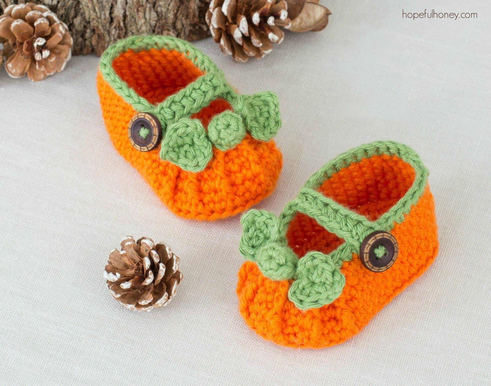 Pumpkin Spice Baby Booties - Crochet Pattern | Baby booties ...