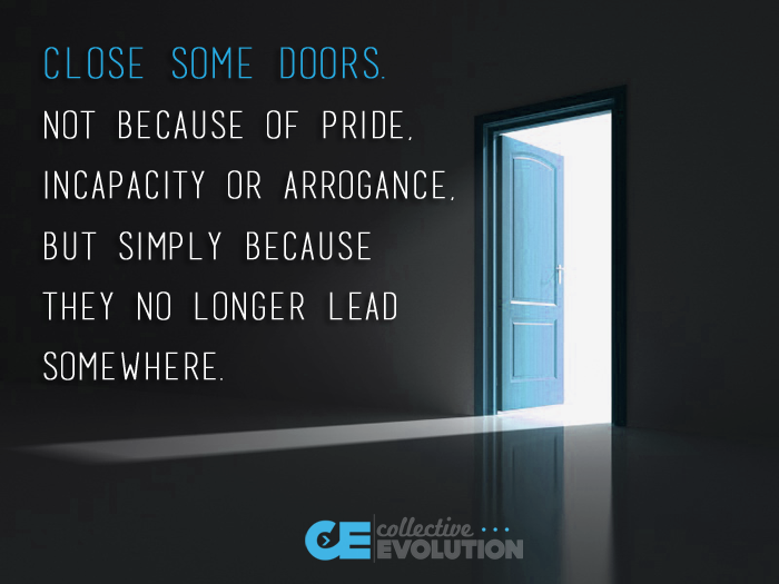 close some doors...
