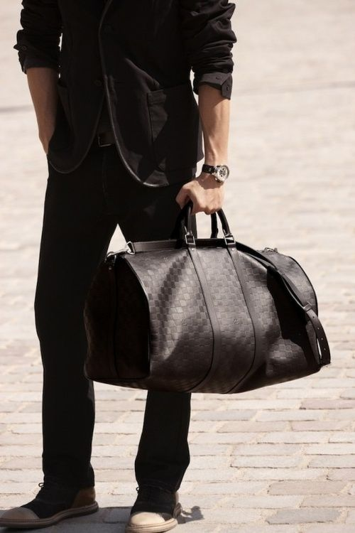 65743a15459 Men s Louis Vuitton Leather Duffle. Men s Fall Winter Fashion.