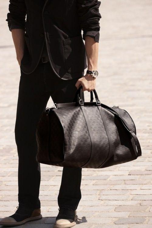 039584bd6a5f Men s Louis Vuitton Leather Duffle. Men s Fall Winter Fashion.