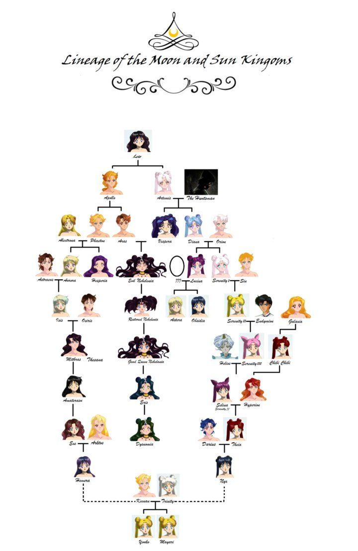 Family Tree Of The Moon By Moon And Sars セーラームーン うさぎ