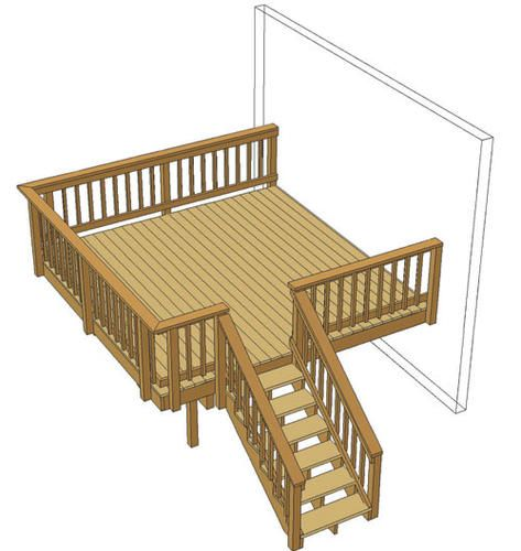 12 X 12 Single Level Deck At Menards 12 X 12 Single Level Deck Diy Deck Deck Layout Deck With Pergola