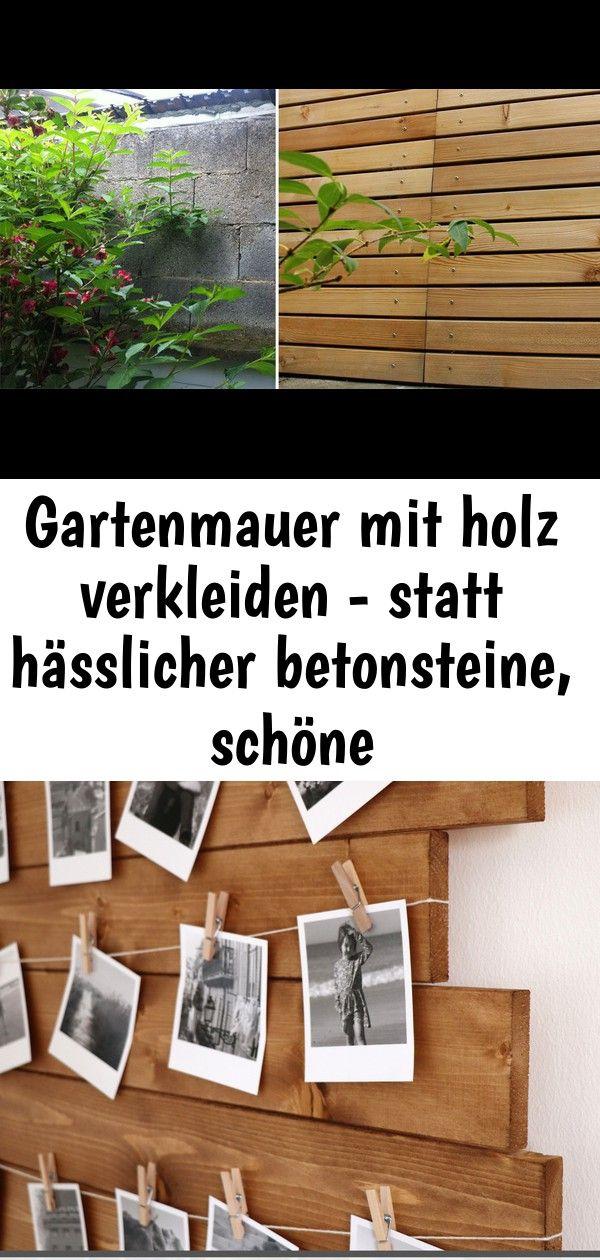 Gartenmauer Mit Holz Verkleiden Statt Hasslicher Betonsteine Schone Larchenverkleidung Home