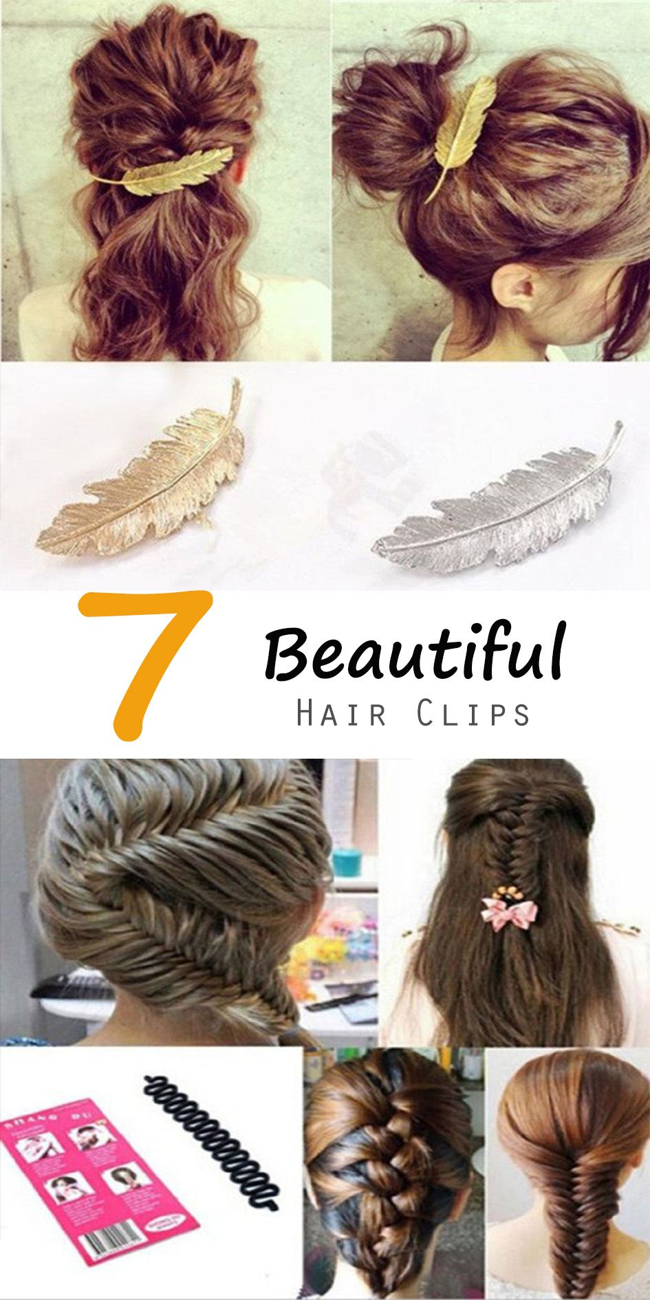 7 Beautiful Hair Clips | oh so sexy hair | Pinterest | Hair style ...