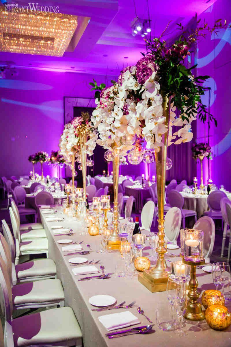 Glamorous Gold & Purple Wedding Theme | Wedding Table ...