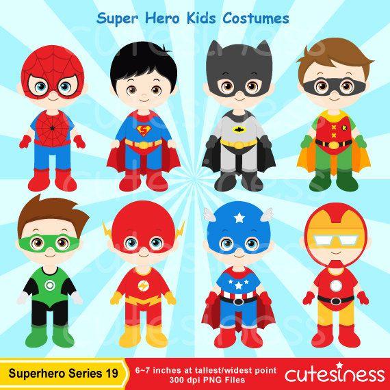 Superhero Digital Clipart Superhero Clipart Super Hero