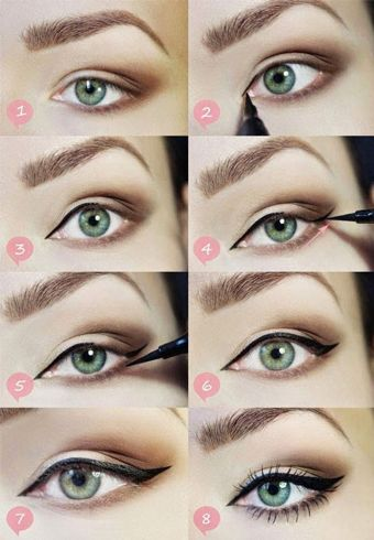 Cat Eye Makeup For Small Eyes Schminke Fur Kleine Augen Katzen