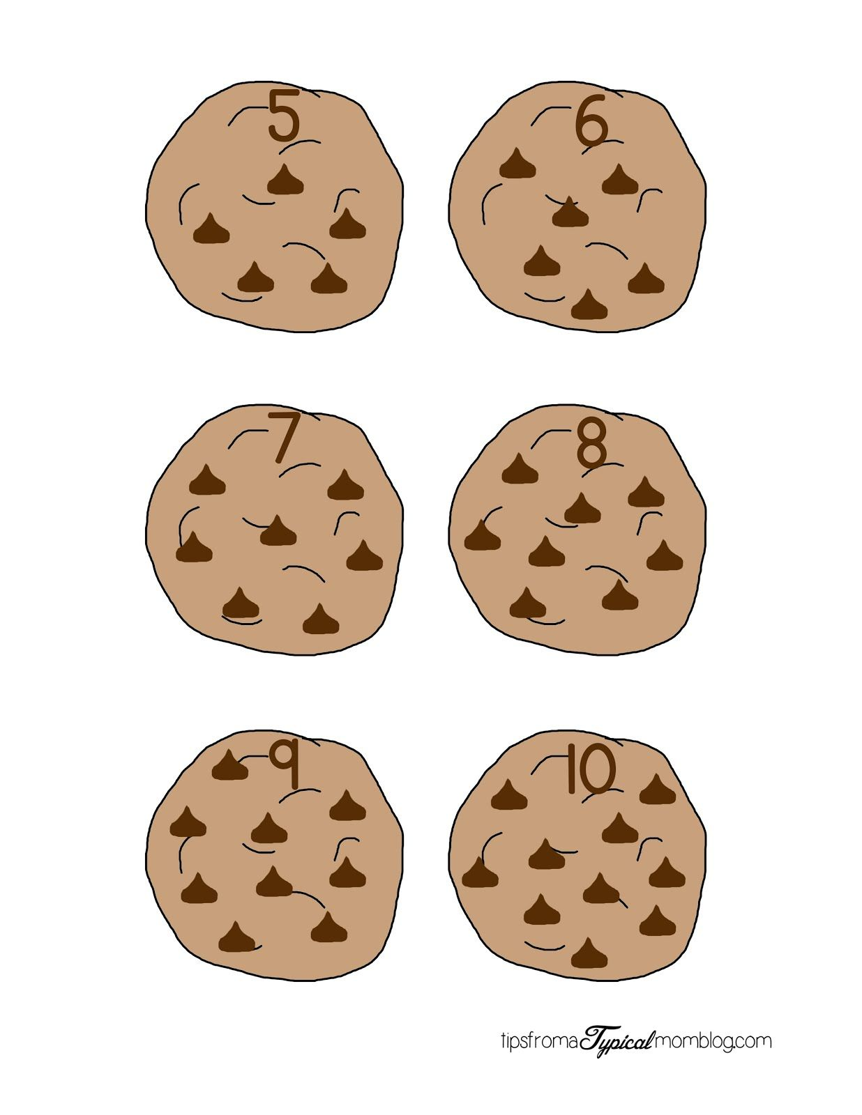Chocolate Chip Math 5 10 Full Page