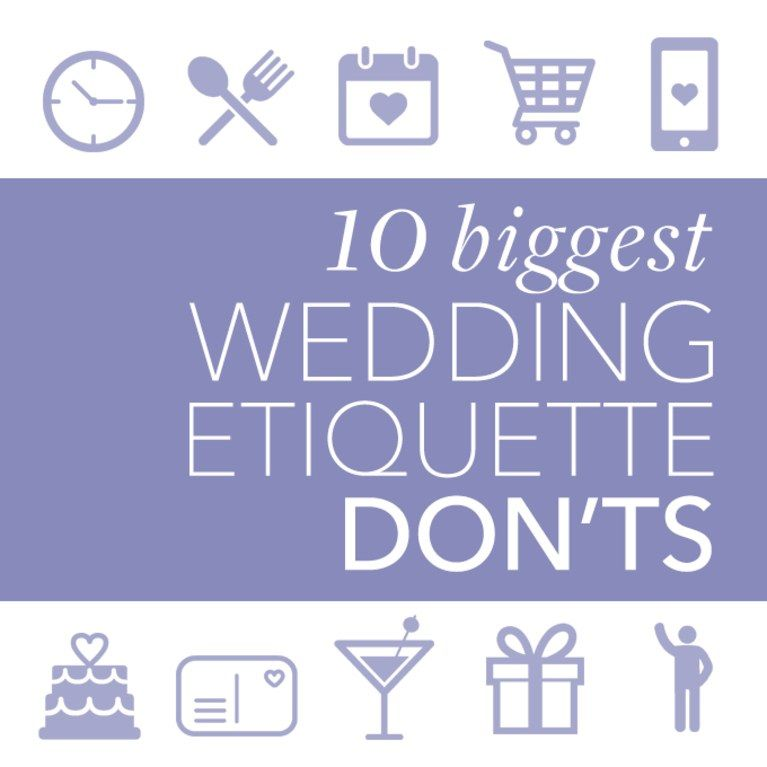 Etiquette Rules For Wedding Gifts: The Top 10 Biggest Wedding Etiquette Don'ts