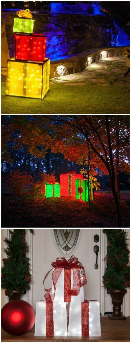 19 Brilliant ideas for Outdoor Christmas decorations 9 Giant Gift