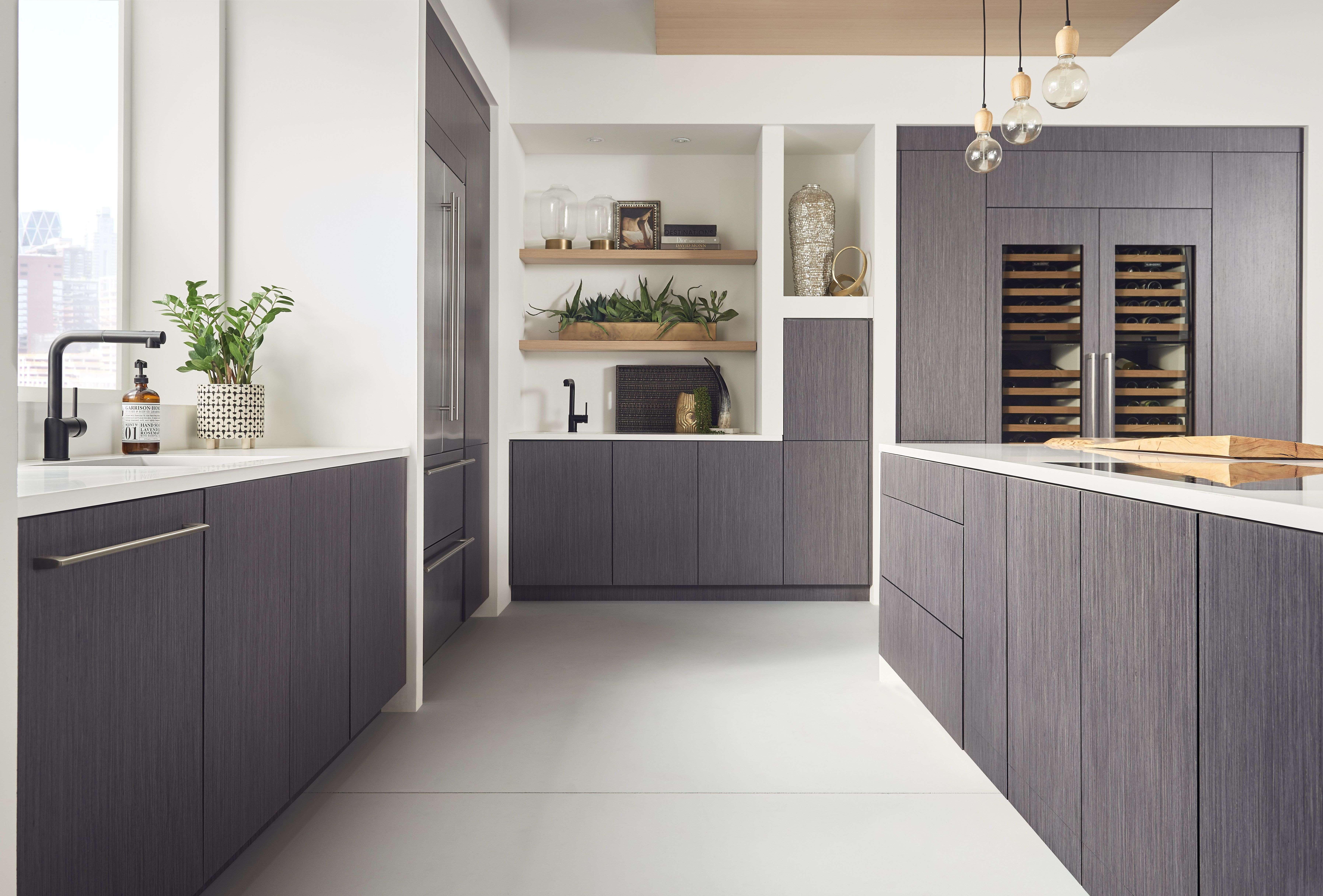 Contemporary Grey Wood Kitchen Kitchen Design Small Interior Design Kitchen Home Decor Kitchen