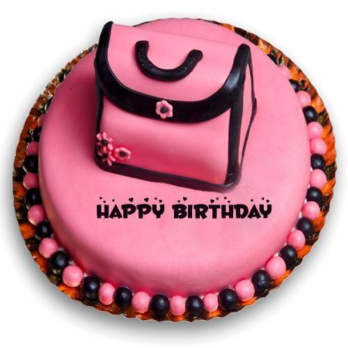 Happy Birthday Cake For Cute Girl With Your Custom Name Monika