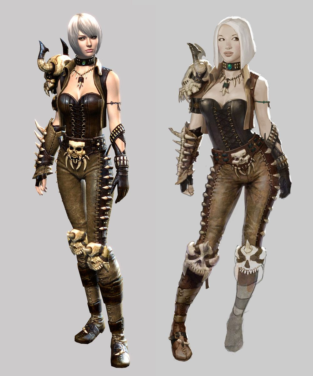 Guild Wars 2 Female Medium Concept And 3d Model Aaron Coberly Guild Wars Guild Wars 2 Female Character Concept