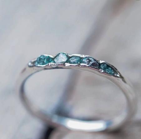 10 Head Turning Alternative Wedding Rings Engagement Rings Rise And Brine Raw Diamond Rings Blue Diamond Ring Raw Blue Diamond