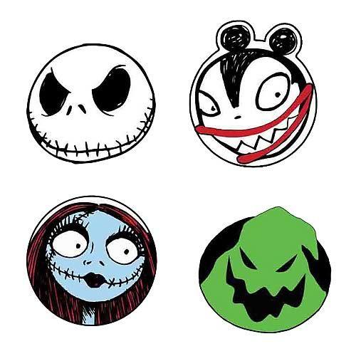 Nightmare Before Christmas Character Head Coaster 4-Pack - Neca ...