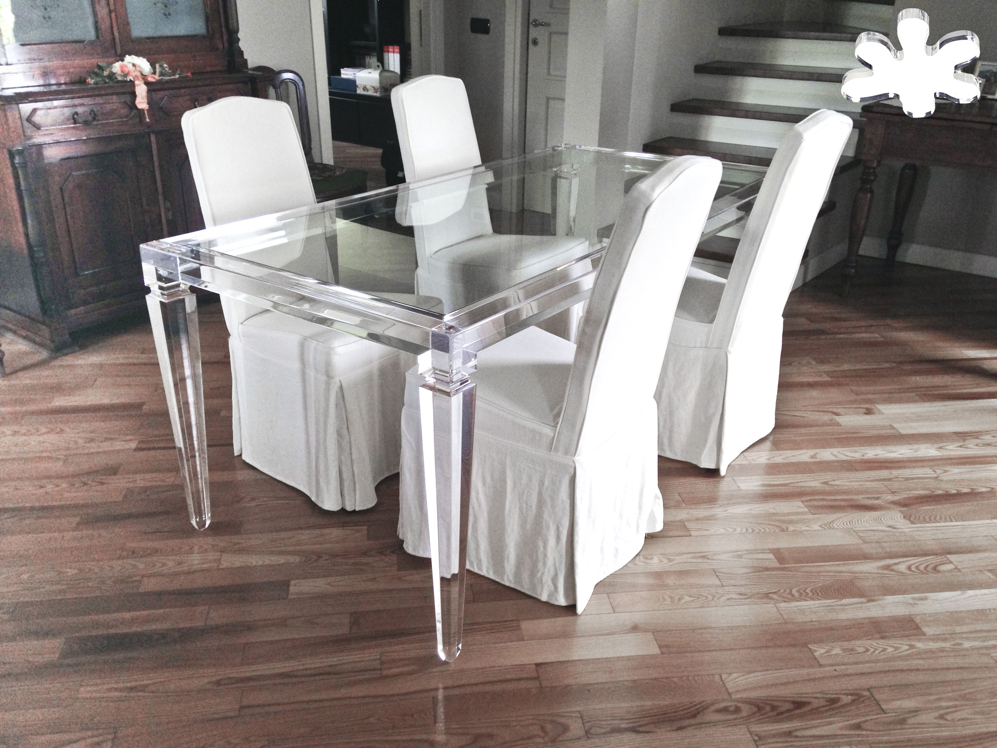 Lucite Acrylic dining table - Acrylic furniture - TAVOLI PRANZO IN ...