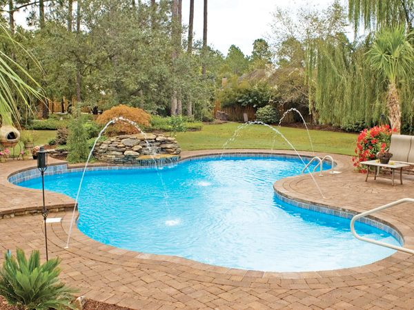 Your Pool Can Match Your Style What Do You Want In A Backyard Paradise Inexpensive Inground Pools Inground Pools Pool Patio