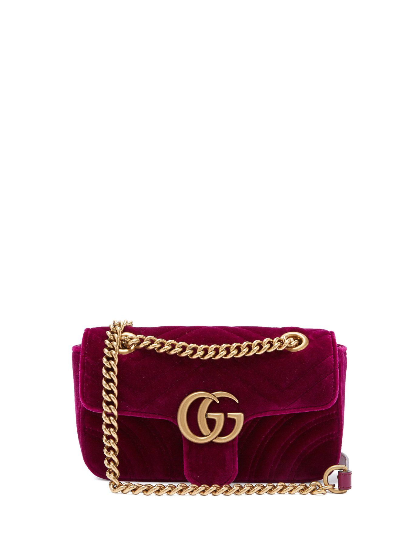 09514f1b8812 GG Marmont mini quilted-velvet cross-body bag | Gucci | MATCHESFASHION.COM  US