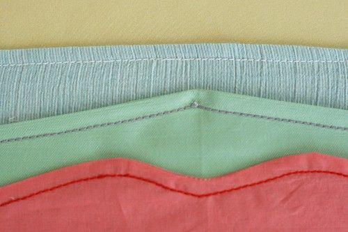 topstitched waistbands