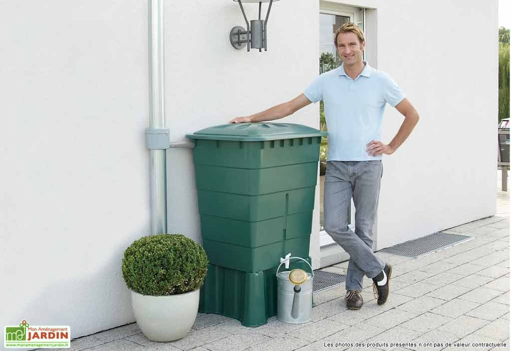 Cuve Récupération du0027Eau Pluie Rect Garantia 300 L Vert - recuperation eau de pluie maison