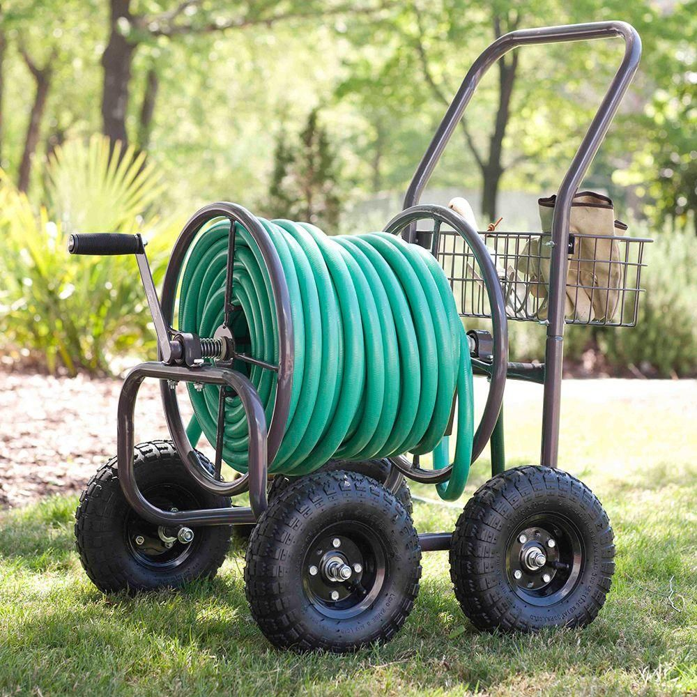 Liberty Garden Four Wheel Hose CartPneumatic Tires