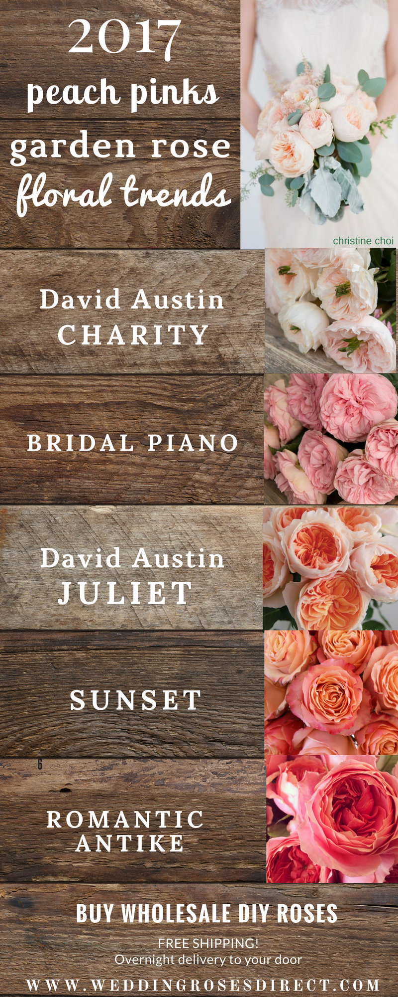 Like all of these flowers and colors for bridal party bouquet ...