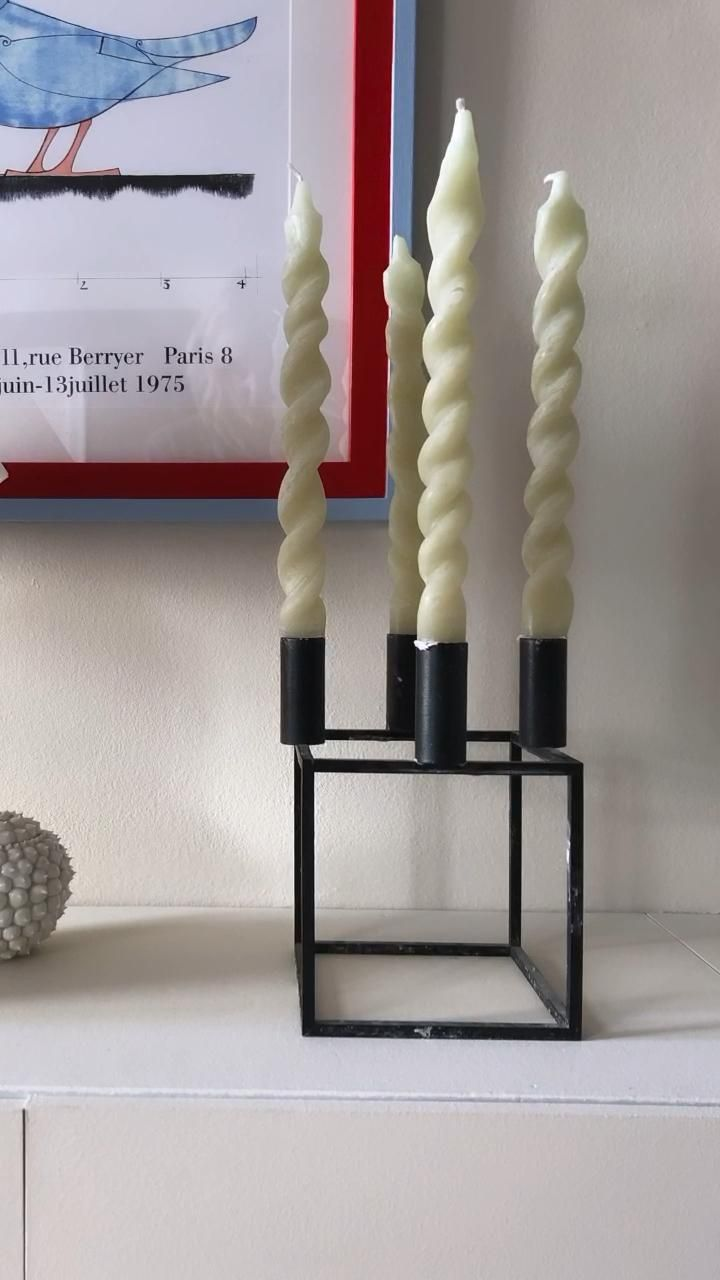 DIY TWISTED CANDLES
