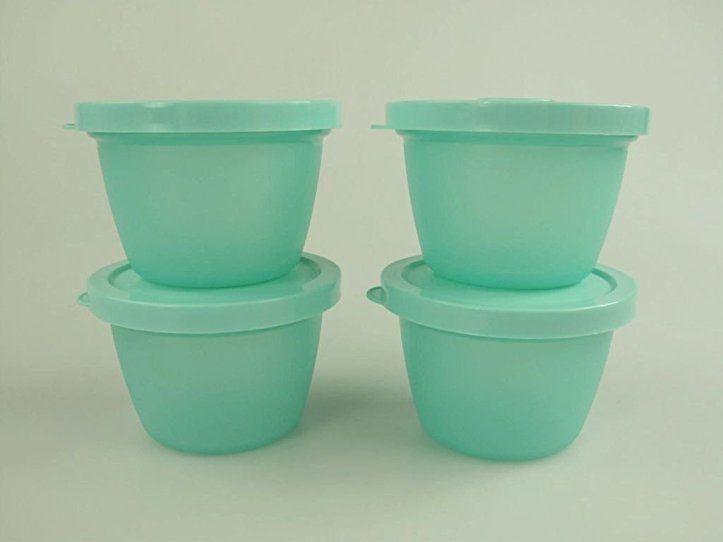 TUPPERWARE Kühlschrank Uno 140 ml mint (4) Dose Vorrat - dunkelblaue kche