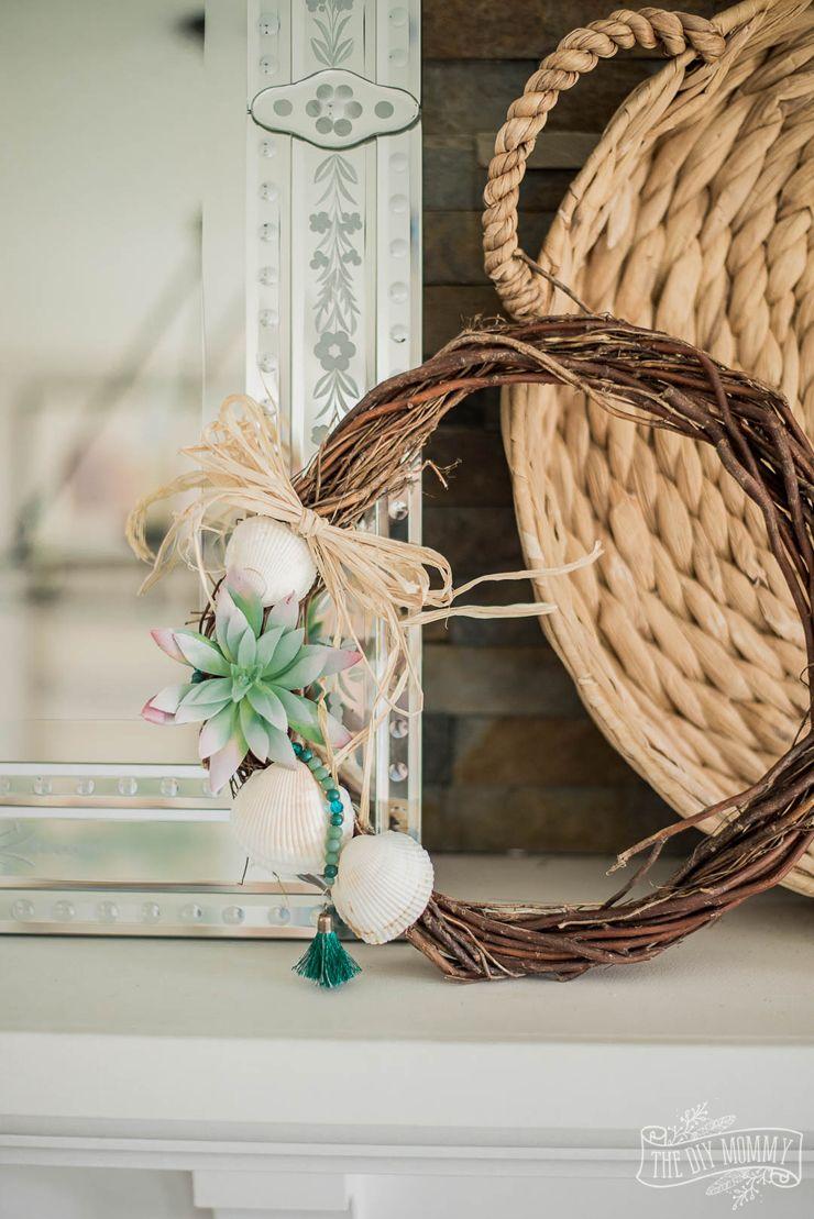 Diy Nautical Dollar Store Wreath For Summer Diy Wreath Nautical