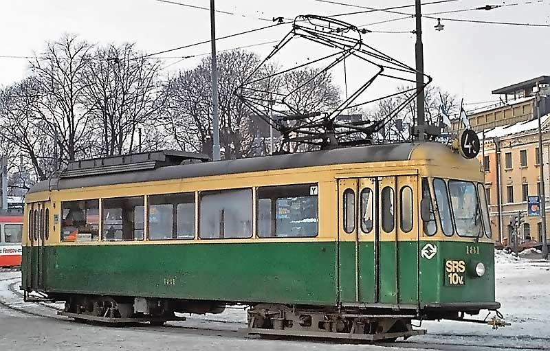 HKL 181 (museovaunu / museum tram) 17.01.1982