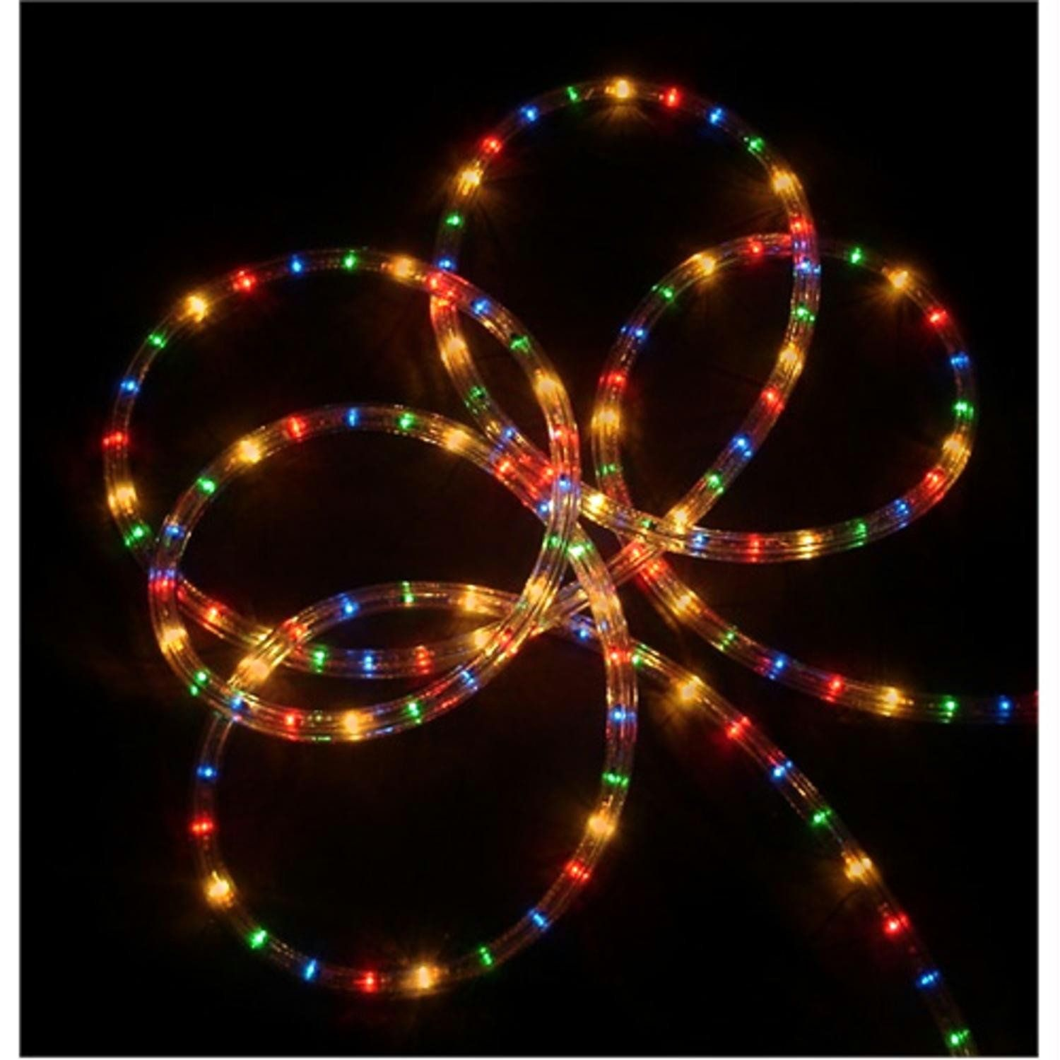 "18 Multi Color Indoor Outdoor Christmas Rope Lights 1"" Bulb"