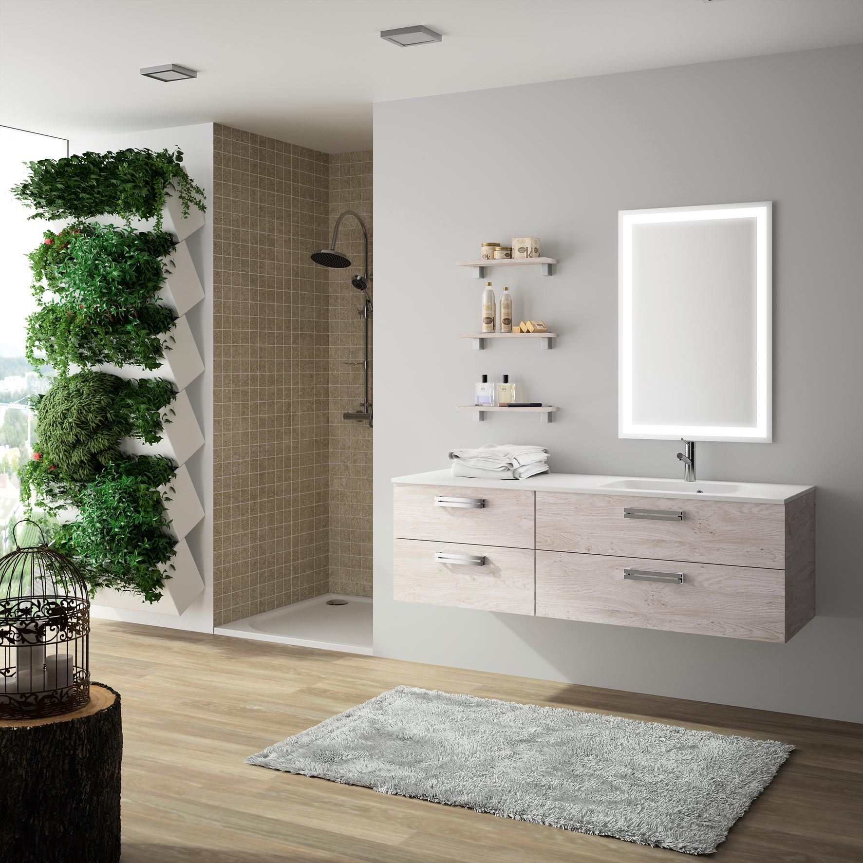 Meuble de salle de bain Cedam - gamme Zoé. Ce modèle aux teintes ...