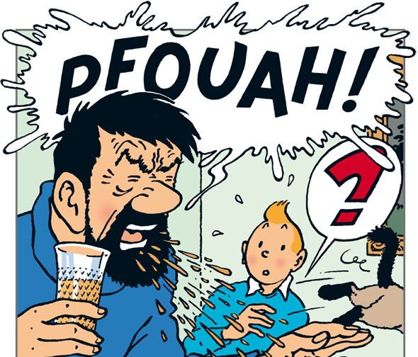 Captain Haddock Cannot Stand Whiskey Tintin And The Picaros