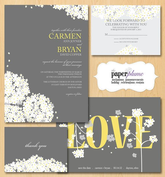 Printable Wedding Invitation LOVE CollectionYour by thepaperplume, $35.00