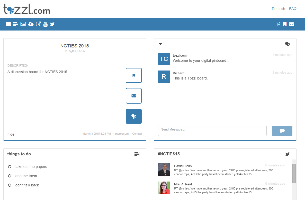 Tozzl Create a Multifaceted Message Board Edtech, Free