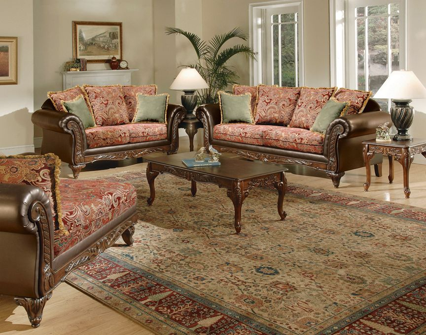 Garnet Victorian Style Living Furniture