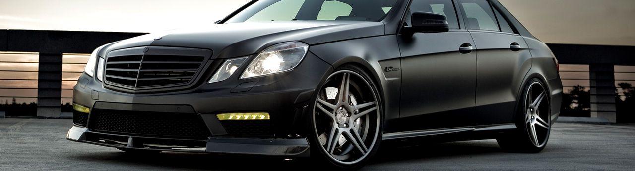 Flat Black Mercedes Benz E350 W212 Merc E350 S Black