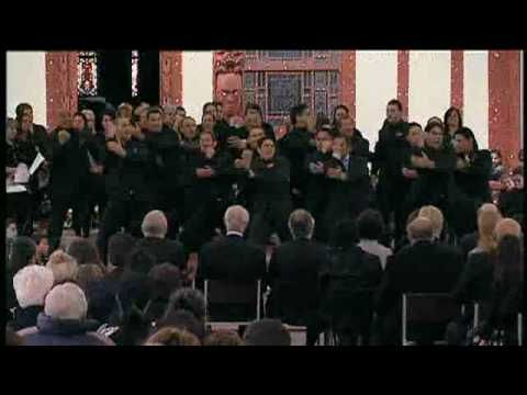 Sir Howard Morrison haka by family...so love this haka. It is fully tight, synchronized, passionate, heart felt and all that a true haka should be.