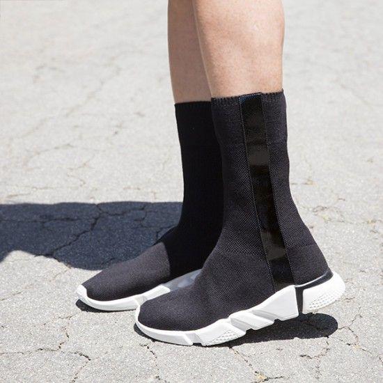 c9c33458752 Jeffrey Campbell Sock Sneaker in black for women. Redman sneaker ...