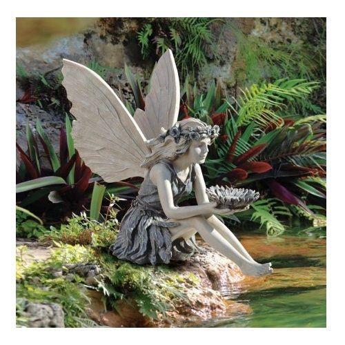 Sunflower Fairy Garden Statue Outdoor Sitting Sculpture Ornament Wreath Flowers Fairy Statues Garden Statues Fairy Garden