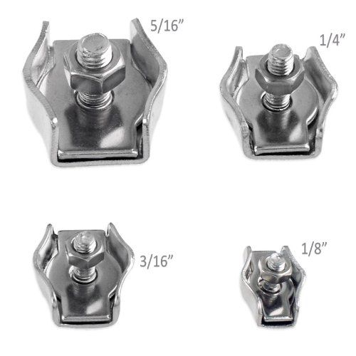 1 4 Stainless Steel Stamped Single Cable Clamp In 2020 Steel Stamp Stainless Steel Cable Clamp