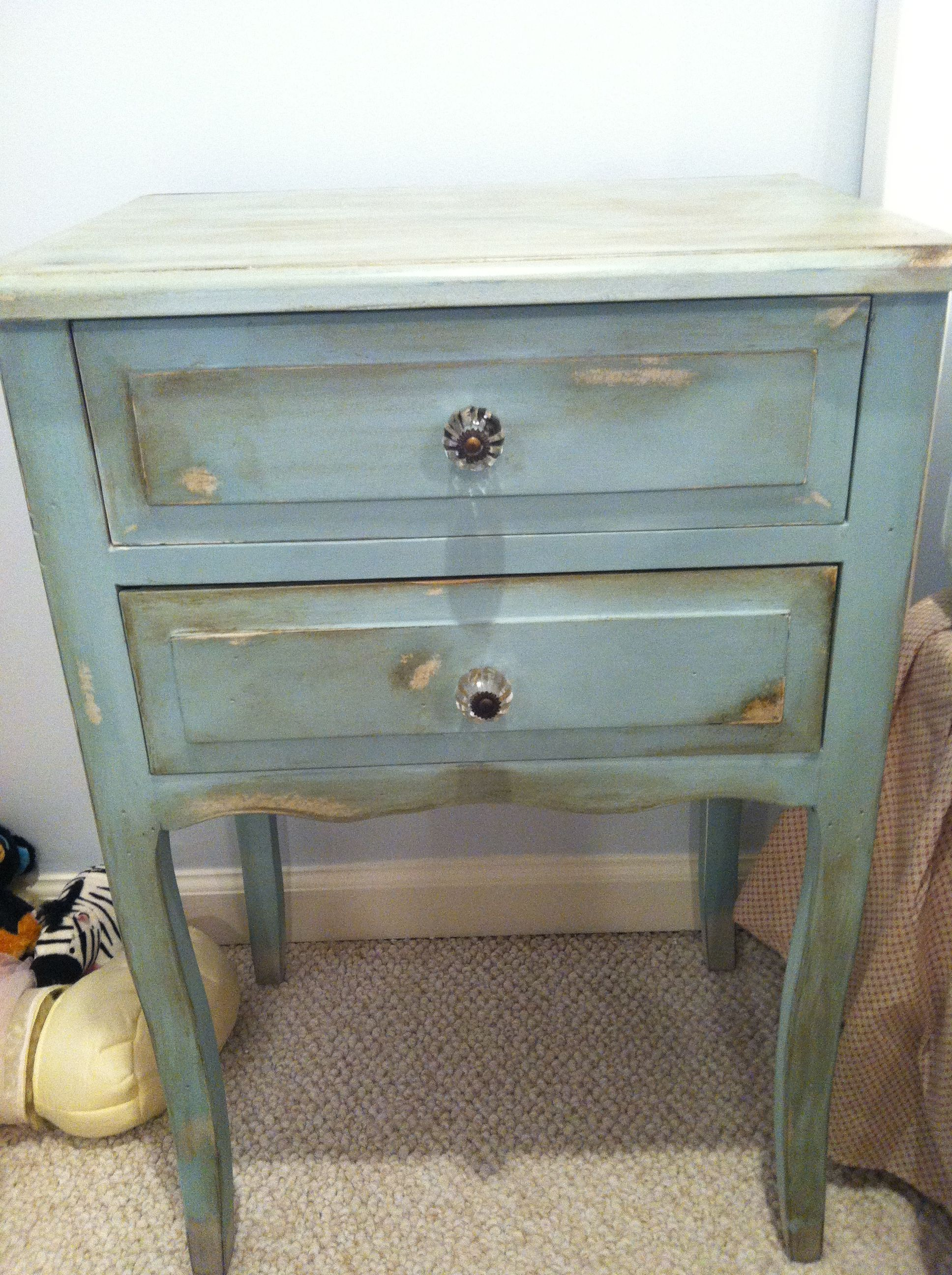 Shabby Chic Bedside Table This Is The 2nd Project I Did Using