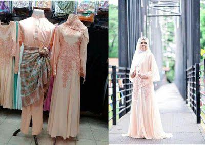 Set Baju Pengantin Warna Soft Peach Gaun Pengantin