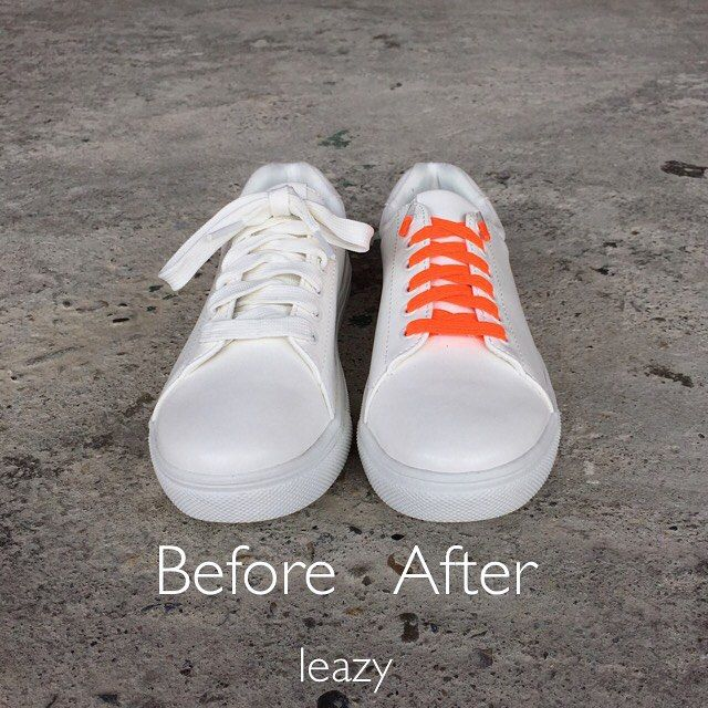 leazy flat laces before after NIE WIEDER SCHUHE BINDEN