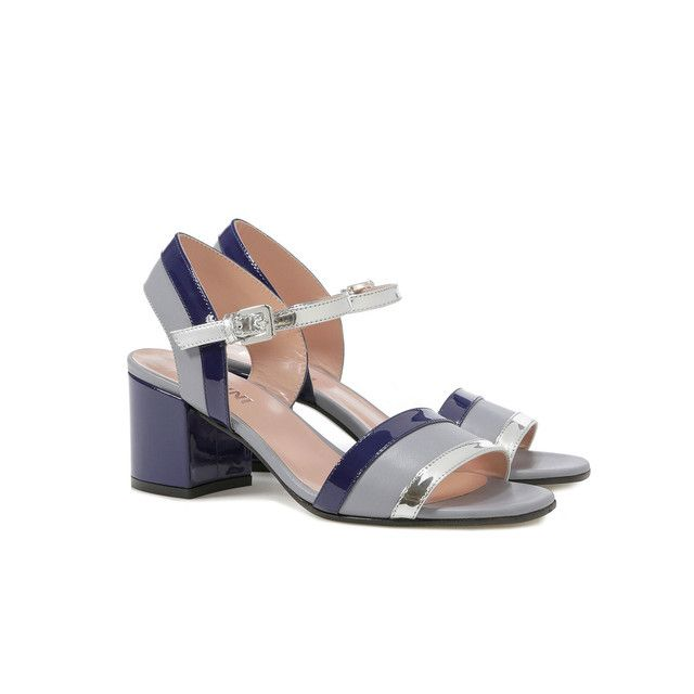 Sandali Pietra/oltremare/argento Donna PE17 - Pollini Online Boutique